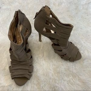 BCBGeneration Open Toe Heeled Ankle Booties